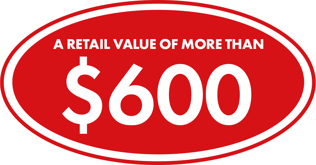 A Retail Value of More Than $600