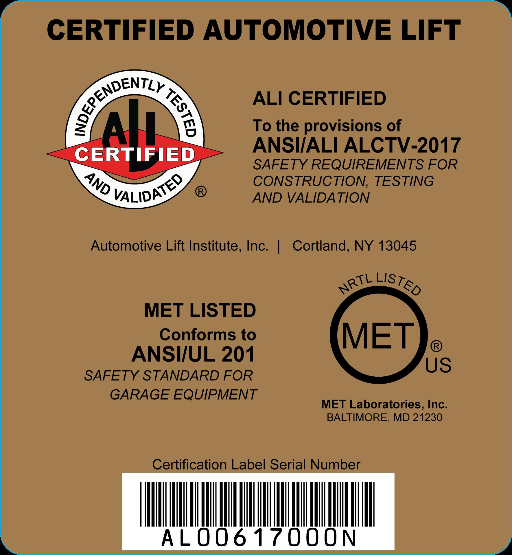 ALI-Gold-Label Mechanical Only-L