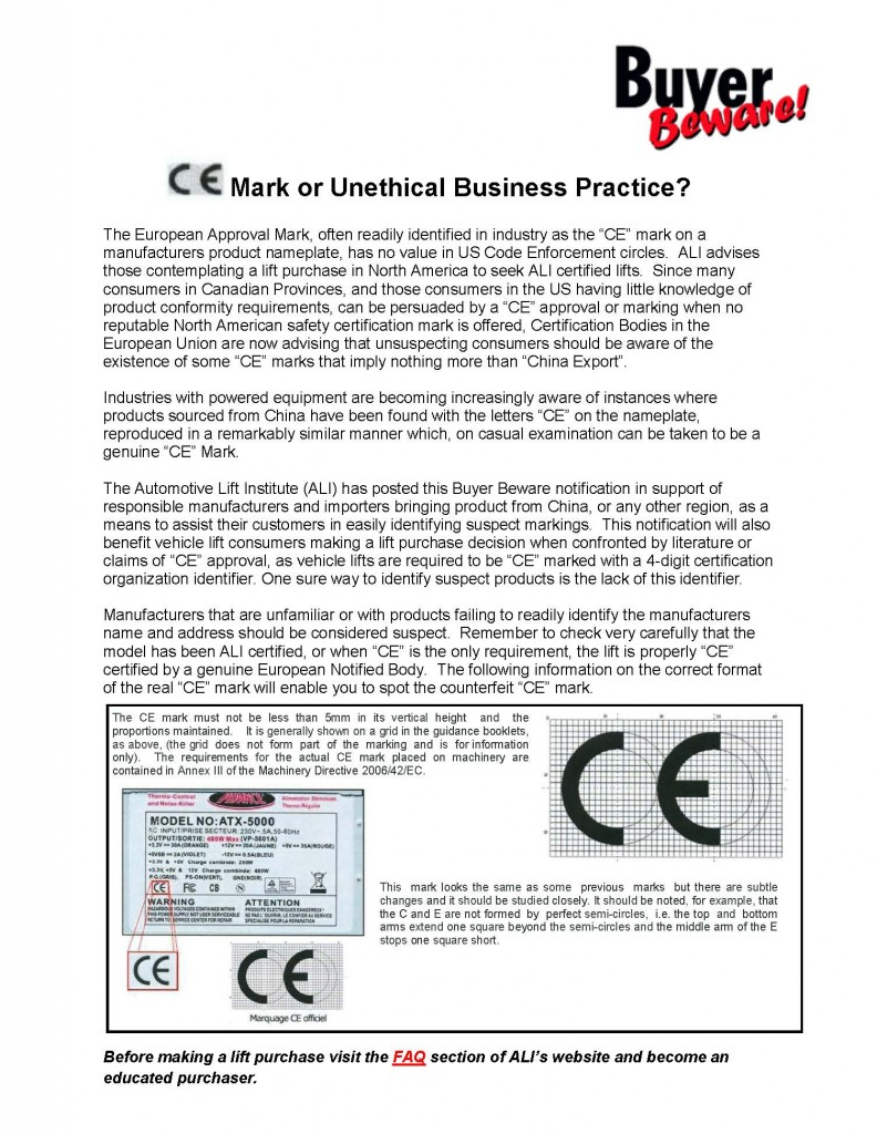 ALI-Buyer-Beware-Counterfeit-Claims-CE-Mark-or-Unethical-Practice