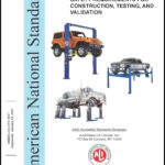 "White book titled Standard for automotive lifts ""Safety Requirements for Construction, Testing and Validation"""