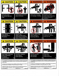 Lift Replacement Warning Label Kit Image