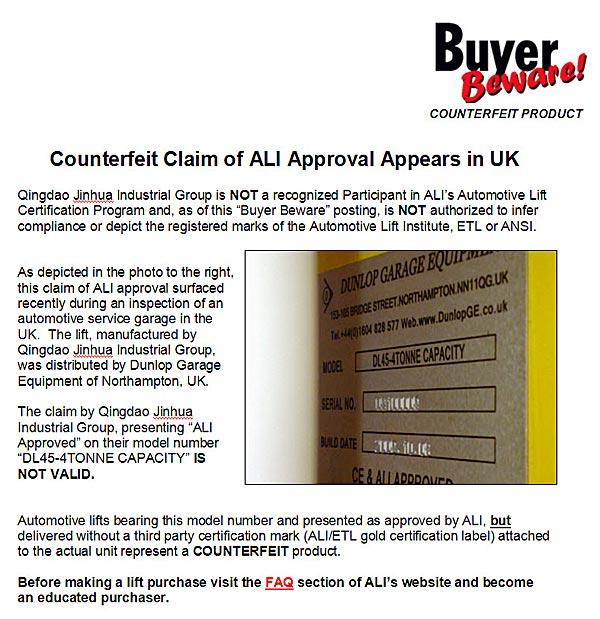 European Market Buyer Beware
