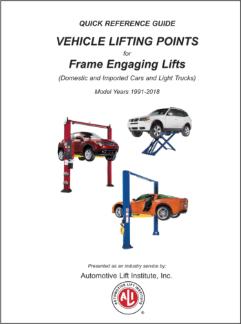 automotive lifts lifting points guide updated annually rh autolift org quick reference guide vehicle lifting points for frame engaging lifts Jack Points