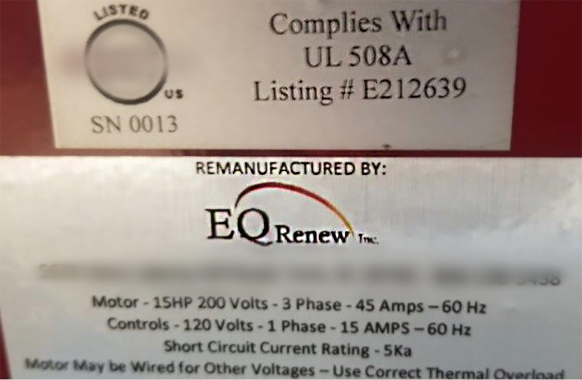 "EQ Renew InLift Inspectorappropriate Labeling of ""Remanufactured"" Automotive Lift Buyer Beware"